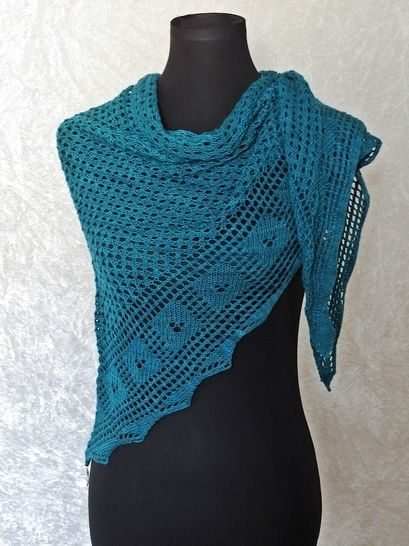 Knitting pattern shawl Nimrodel at Makerist - Image 1