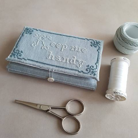 'Keep me handy', cross stitch needle book pattern