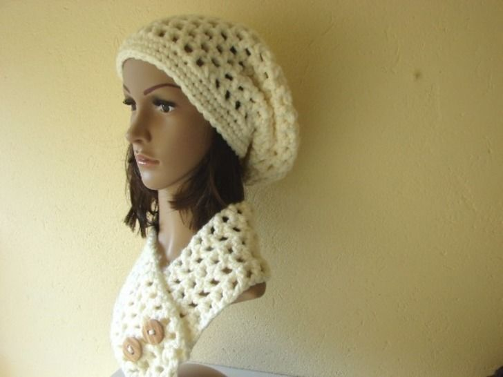 slouchy hat and short scarf super bulky - crochet pattern at Makerist - Image 1