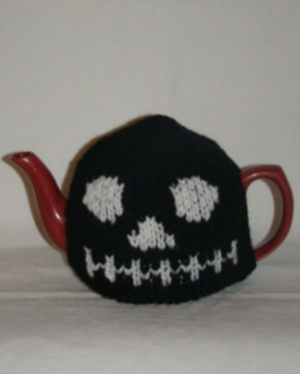 Halloween skull tea cosy at Makerist - Image 1