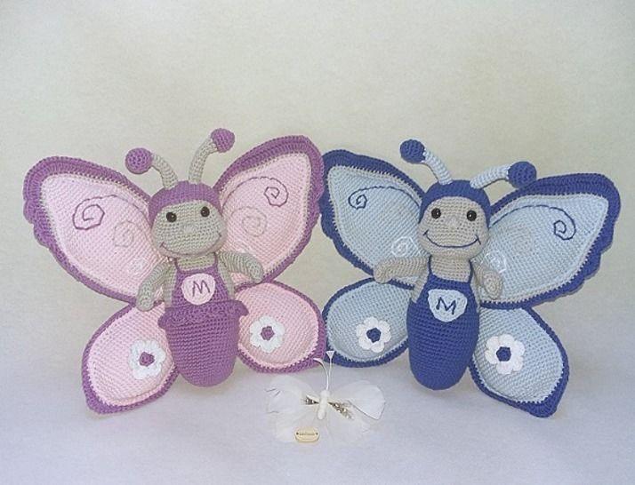 Häkelanleitung Schmetterling Marius und Maxima bei Makerist - Bild 1