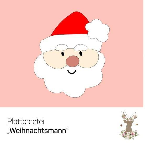 """Plotterdatei """"Weihnachtsmann"""" bei Makerist - Bild 1"""
