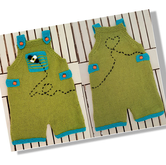 Playful Dungarees  (3 to 24 months) at Makerist - Image 1
