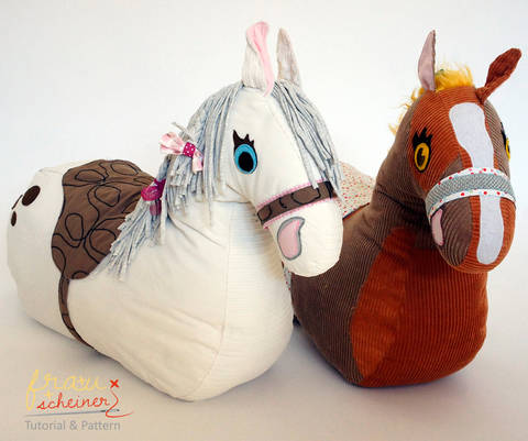 Ride-on plush horse pattern and instruction at Makerist