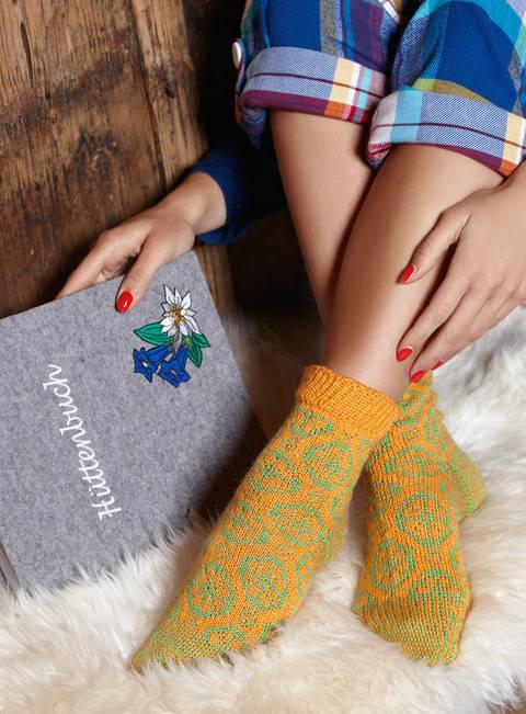 Strickanleitung Socken mit Jacquardmuster - Modell Edda