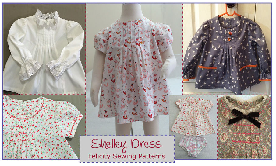 Baby & girls dress, tunic or top sewing pattern -- Shelley Dress & Top at Makerist - Image 1