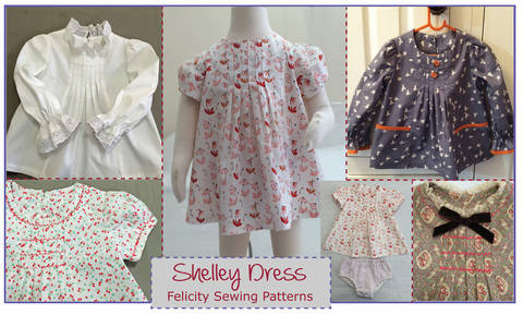 Baby & girls dress, tunic or top sewing pattern -- Shelley Dress & Top at Makerist
