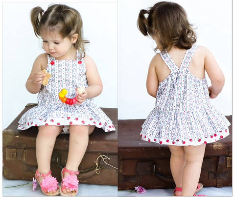 Baby Romper sewing pattern -- Tinkerbelle Romper at Makerist