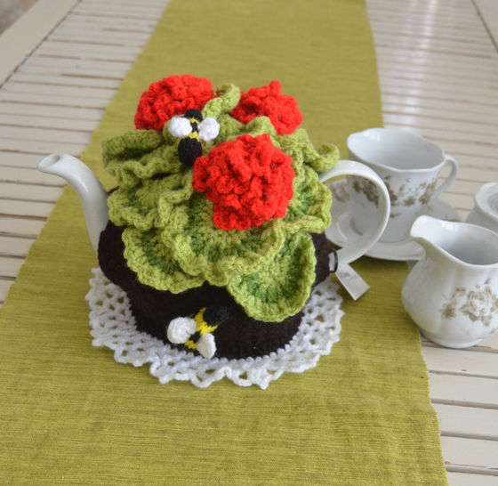 Geranium Tea Cosy at Makerist - Image 1