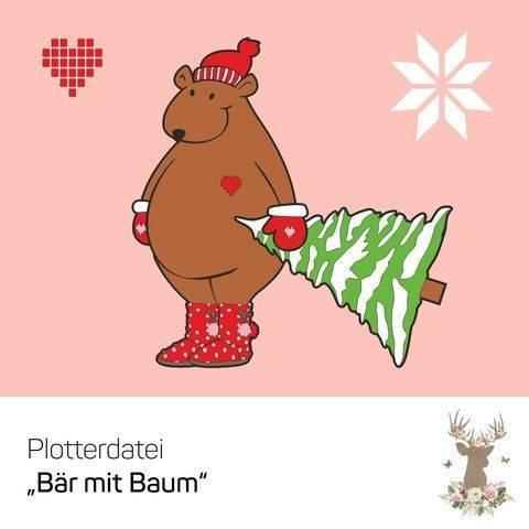 """Plotterdatei """"Bär mit Baum"""""""