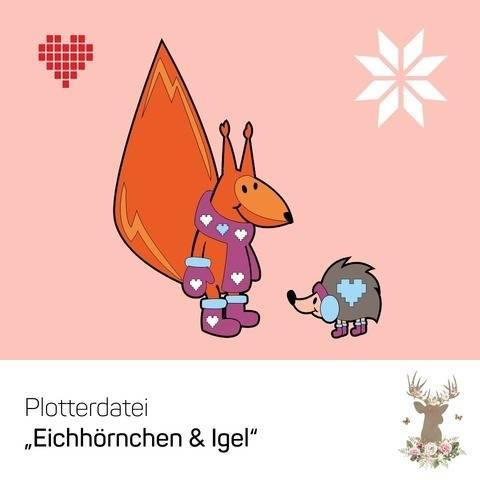 """Plotterdatei """"Eichhörnchen & Igel"""""""
