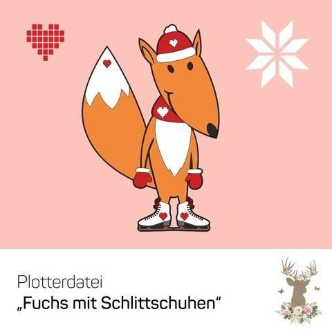 """Plotterdatei """"Fuchs mit Schlittschuhen"""" bei Makerist"""