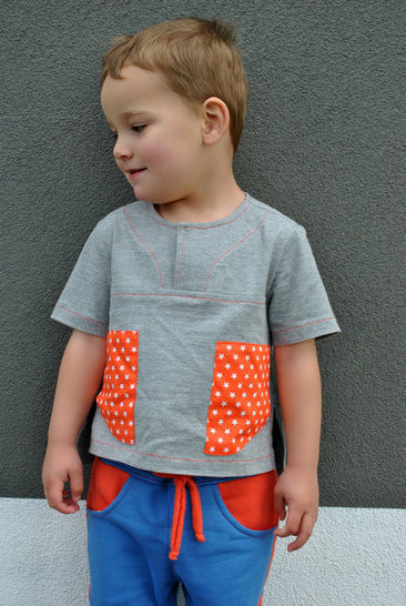Boys Casual Shirt Sewing Pattern -- The Kieran Shirt at Makerist - Image 1