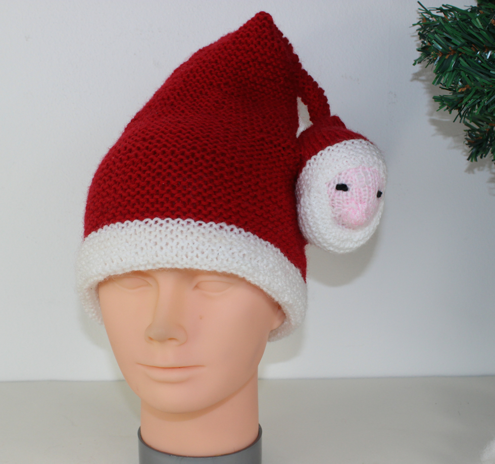 Childrens Santa Head Christmas Hat