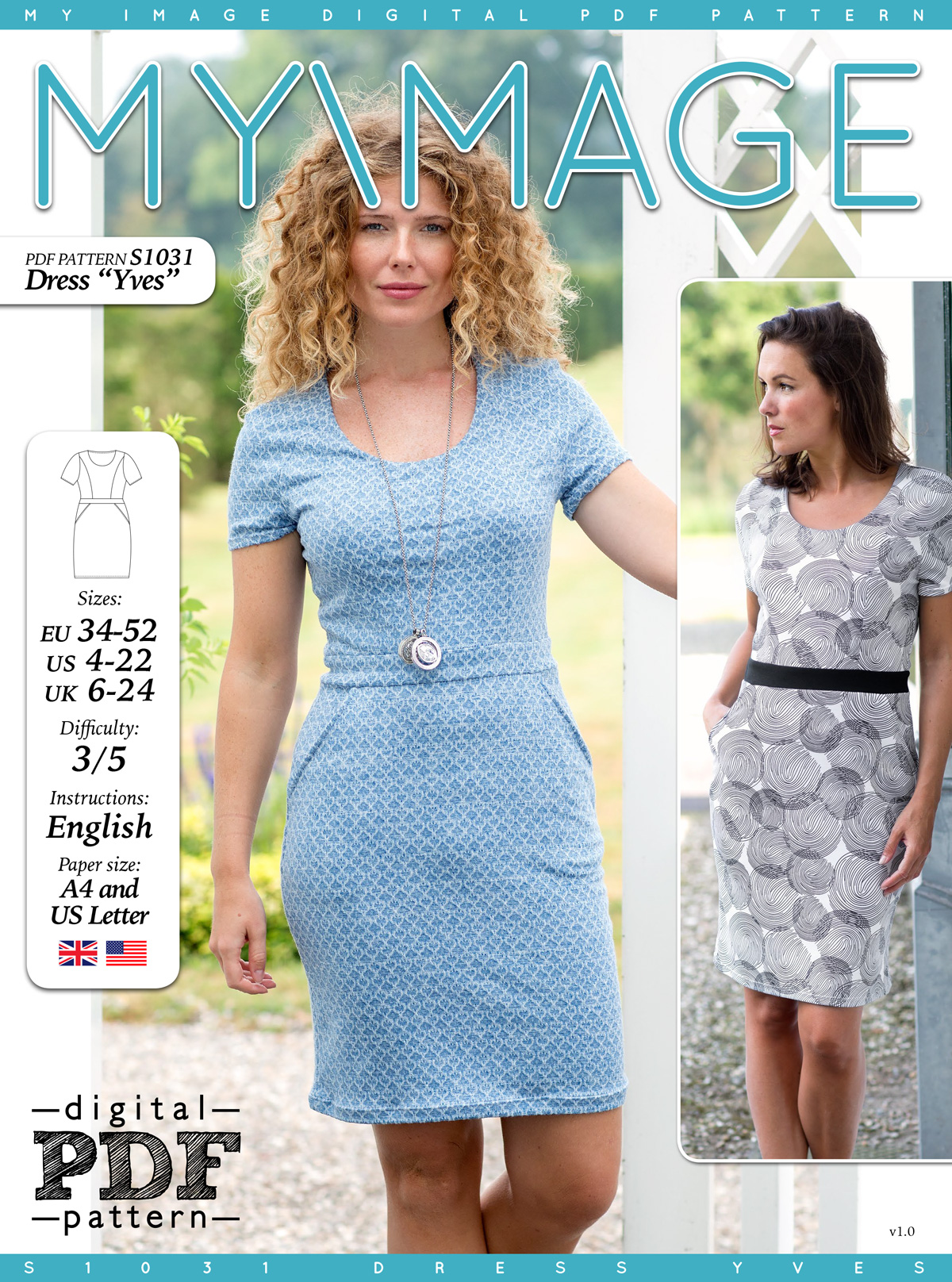 Dress YVES PDF Pattern + Tutorial