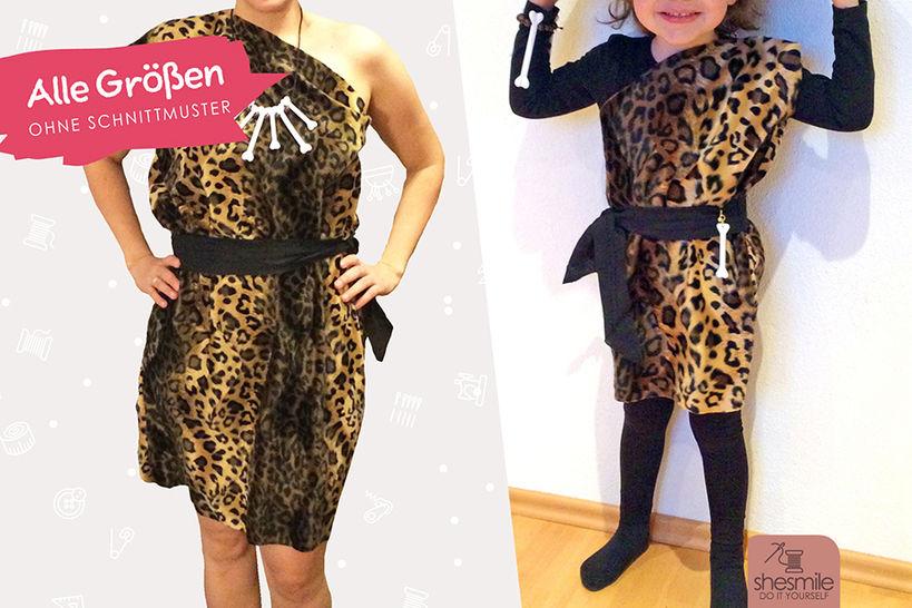 """Kostüm """"Steinzeit-Kleid Enya"""" (Nähanleitung für alle Größen) bei Makerist - Bild 1"""