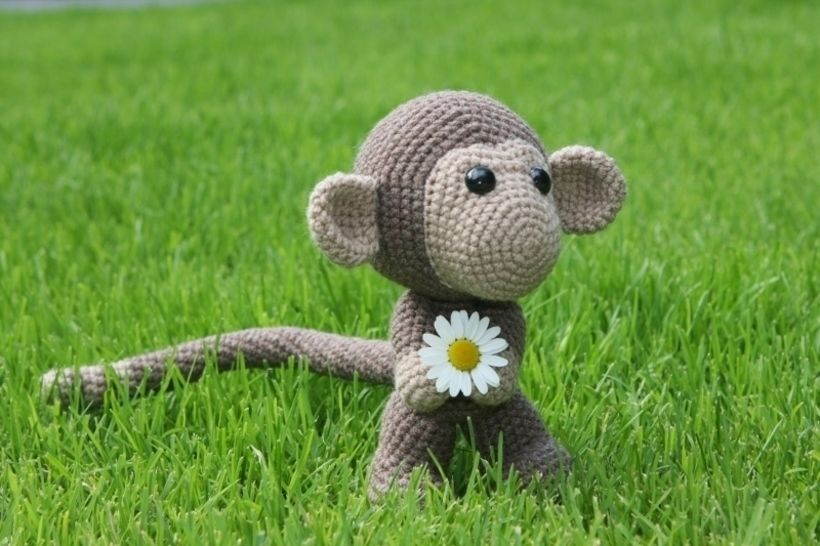 Häkelanleitung süßer Affe Chimp bei Makerist - Bild 1