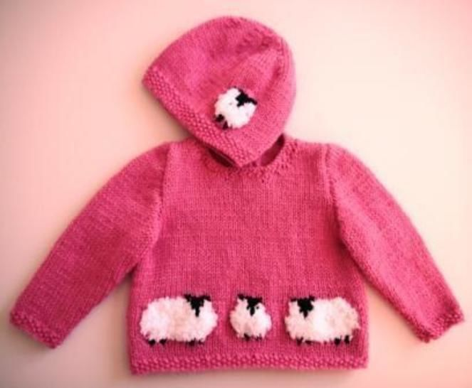 Baby Sheep Sweater and Hat at Makerist - Image 1
