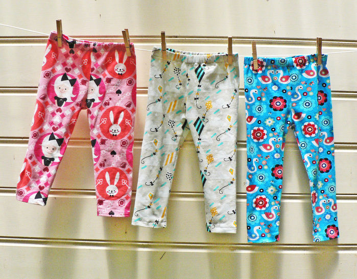 Children's Leggings: PDF Sewing Pattern & Tutorial at Makerist - Image 1