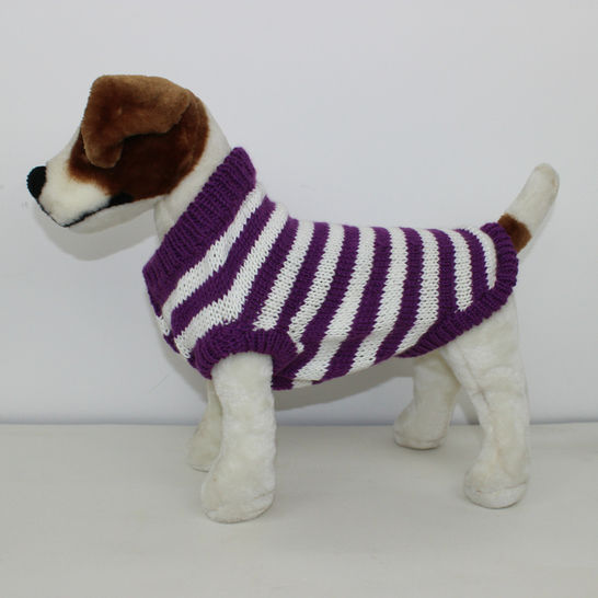 Aran Stripe Dog Coat at Makerist - Image 1