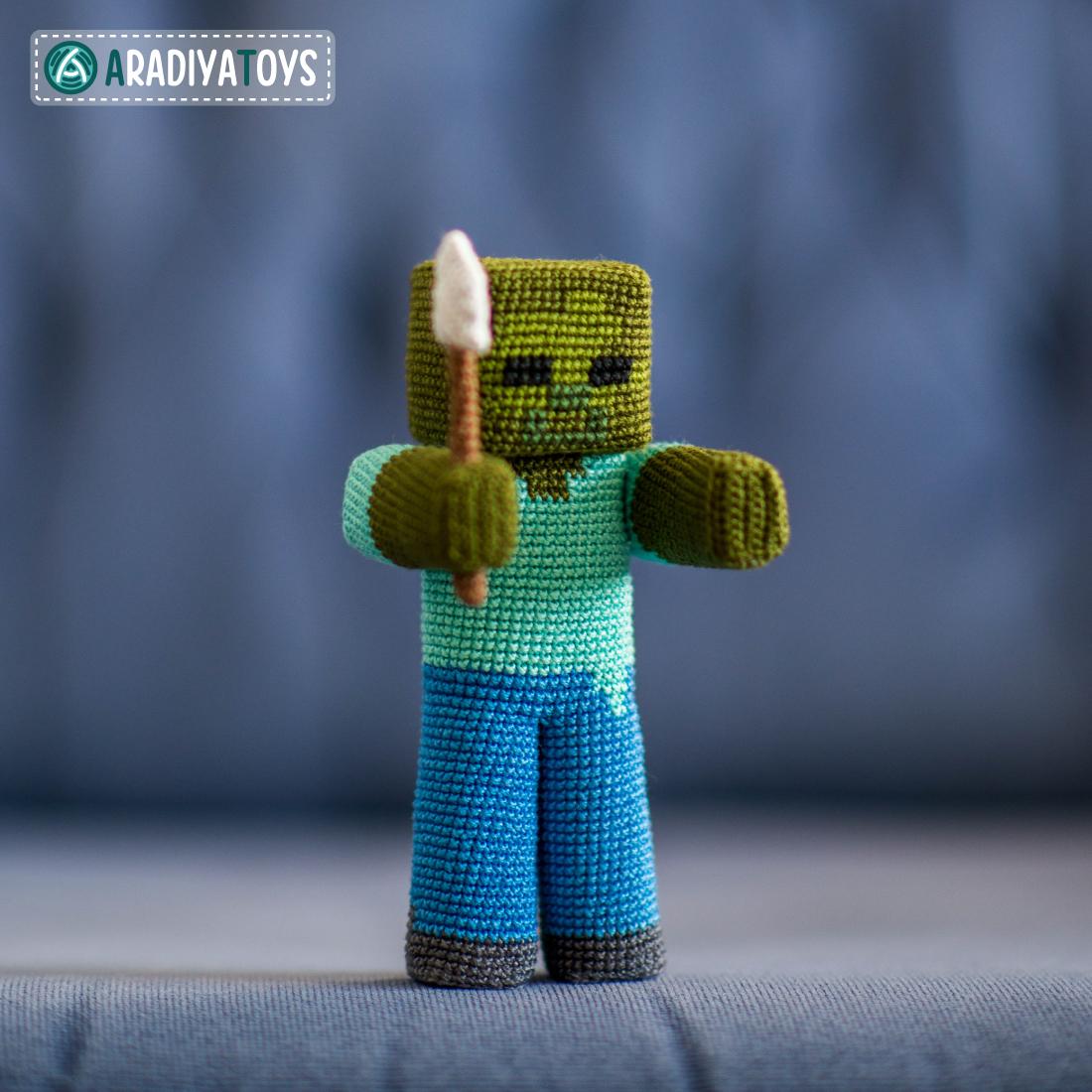 "Crochet Pattern of Zombie from ""Minecraft"" by AradiyaToys"