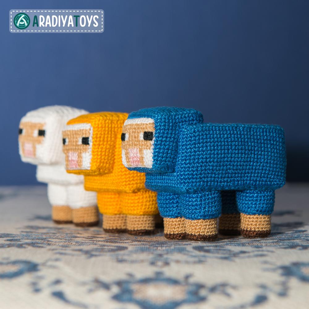 "Crochet Pattern of Sheep from ""Minecraft"" by AradiyaToys"