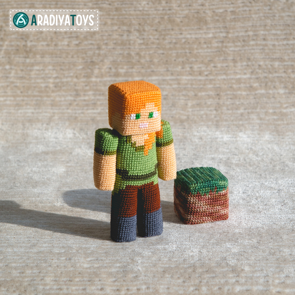 "Crochet Pattern of Alex from ""Minecraft"" by AradiyaToys"