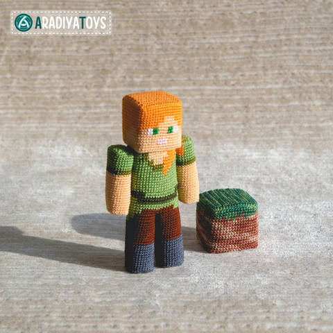 "Crochet Pattern of Alex from ""Minecraft"" by AradiyaToys at Makerist"