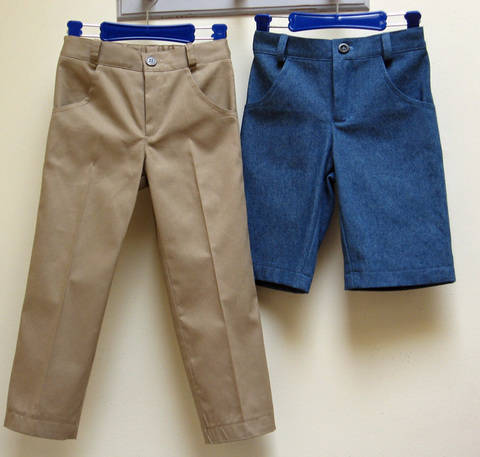 PDF sewing pattern for boys casual trousers -- Slim Jim Pants at Makerist