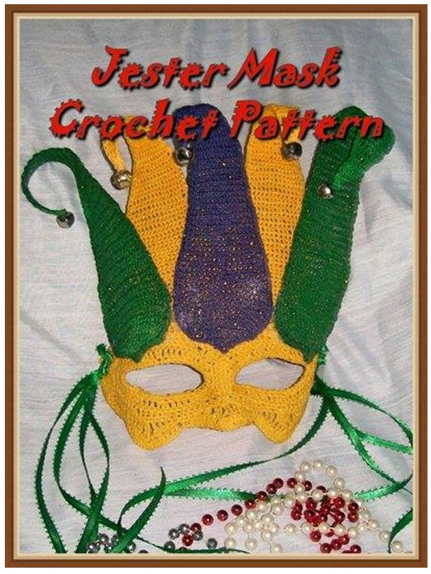 Court Jester Mardi gras or Halloween Mask