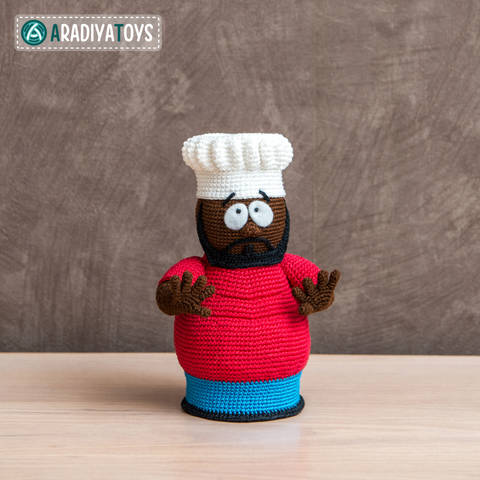 "Crochet Pattern of Chef from ""South Park"" by AradiyaToys at Makerist"