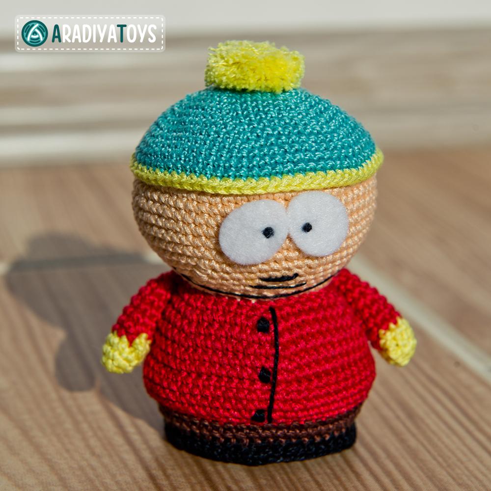 Crochet Pattern of Eric Cartman by AradiyaToys
