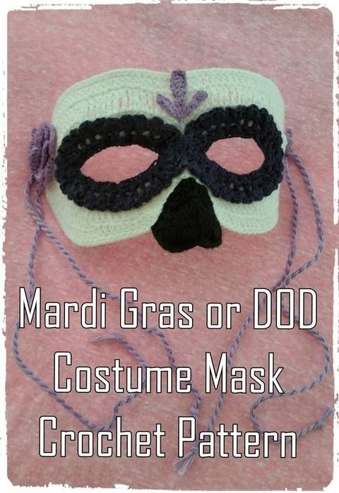 Mardi Gras or Day of the Dead  Mask Crochet Pattern  at Makerist