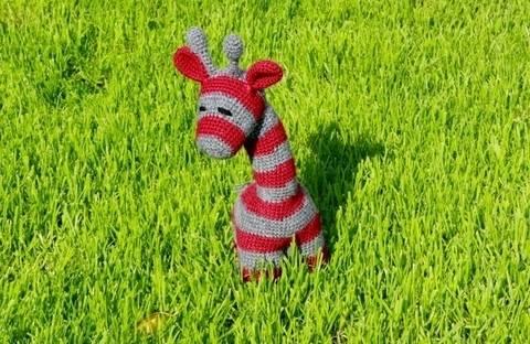 Häkelanleitung Neon Streifi, die Giraffe