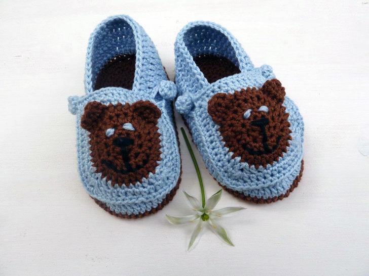Häkelanleitung Babyschuhe für Jungs bei Makerist - Bild 1