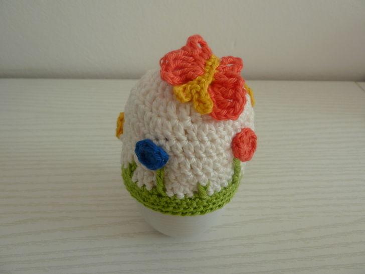 Häkelanleitung Eierwärmer Blumenwiese bei Makerist - Bild 1