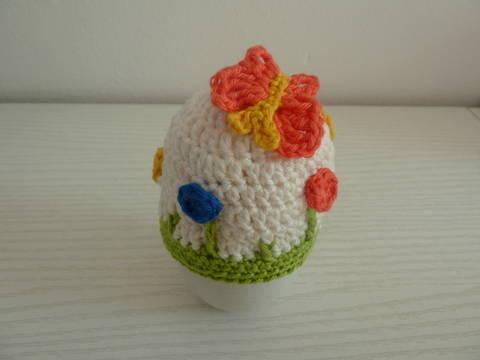 Häkelanleitung Eierwärmer Blumenwiese bei Makerist