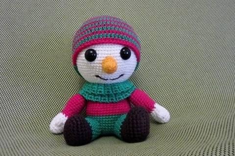 Häkelanleitung Frosty, der Schneemann