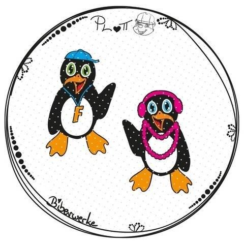 Paket Pinguine Fabienne & Fabian (Plotterdatei)
