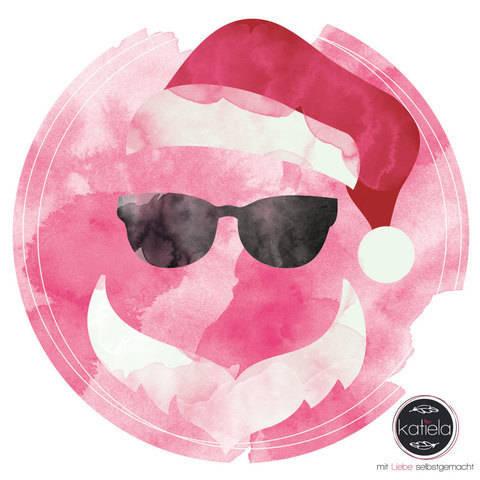 Plottervorlage Weihnachtsquartett Cool Santa