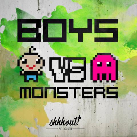 BOYS VS MONSTERS - Plotterdatei