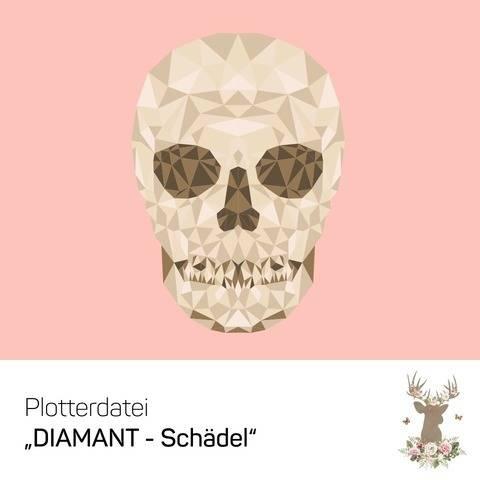"""Plotterdatei """"DIAMANT-Schädel"""" bei Makerist"""