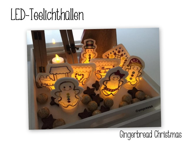 Stickdatei ITH - LED Teelichthüllen Gingerbread in Format PES