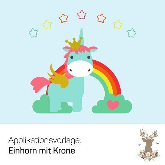 """Applikation """"Einhorn mit Krone"""" bei Makerist - Bild 1"""