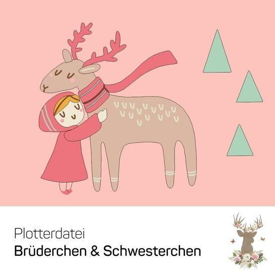 """Plotterdatei """"Brüderchen & Schwesterchen"""" bei Makerist - Bild 1"""