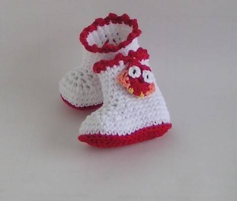 Baby shoes boots crochet pattern