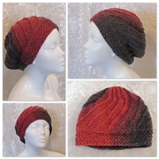Knitting pattern hat, beanie, toque, slouch Beria at Makerist - Image 1