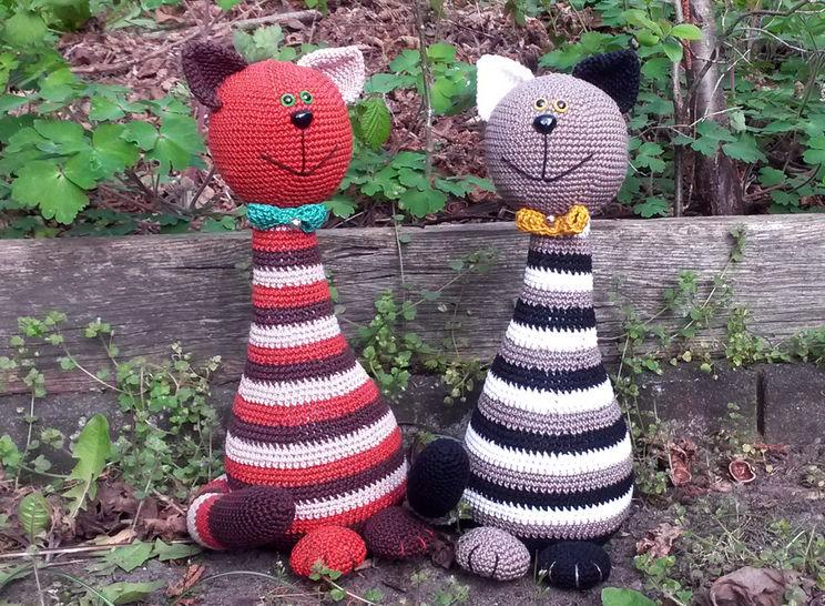 """Häkelanleitung """"Kater Eddy & Freddy"""" bei Makerist - Bild 1"""