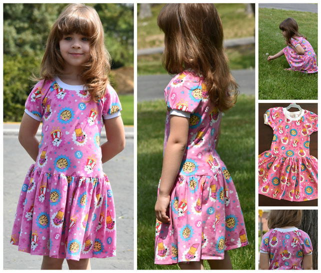 GIRLS DRESS, TUNIC, SEWING PATTERN, LONG SLEEVES, SHORT SLEEVES, KNIT FABRICS, EASY BEGINNER at Makerist - Image 1