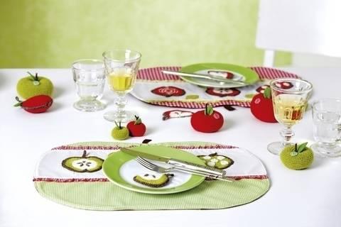 """Tischdeko """"Apfel"""" Set"""